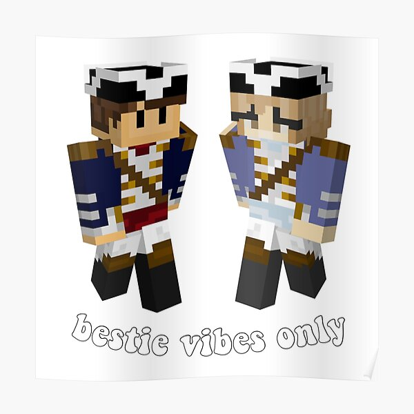 wilbur soot and nihachu mc skins  Poster RB0107 product Offical Nihachu Merch