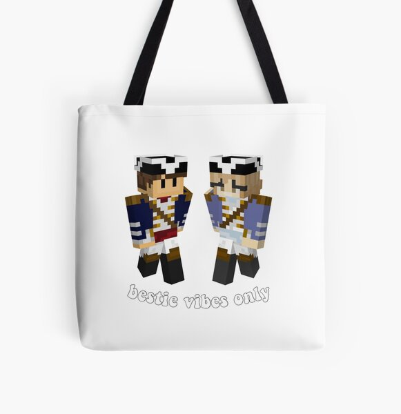wilbur soot and nihachu mc skins  All Over Print Tote Bag RB0107 product Offical Nihachu Merch