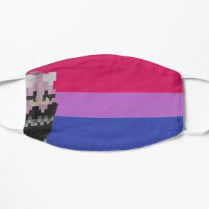 niki nihachu bisexual pride  Flat Mask RB0107 product Offical Nihachu Merch