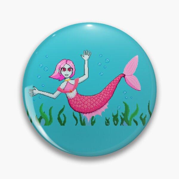 Pixel Art Dream SMP Mermaid Nihachu Pin RB0107 product Offical Nihachu Merch