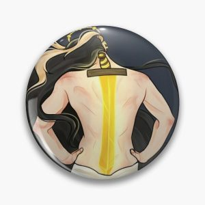 goddess niki's sword tattoo Pin RB0107 product Offical Nihachu Merch