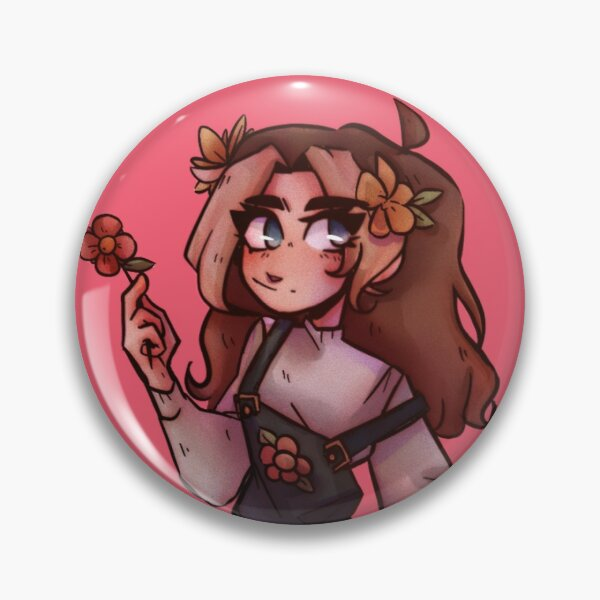 Niki flowers Pin RB0107 product Offical Nihachu Merch